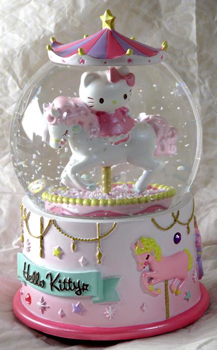 Merry-Go-Round Musical Snow Globe Hello Kitty  hello ...