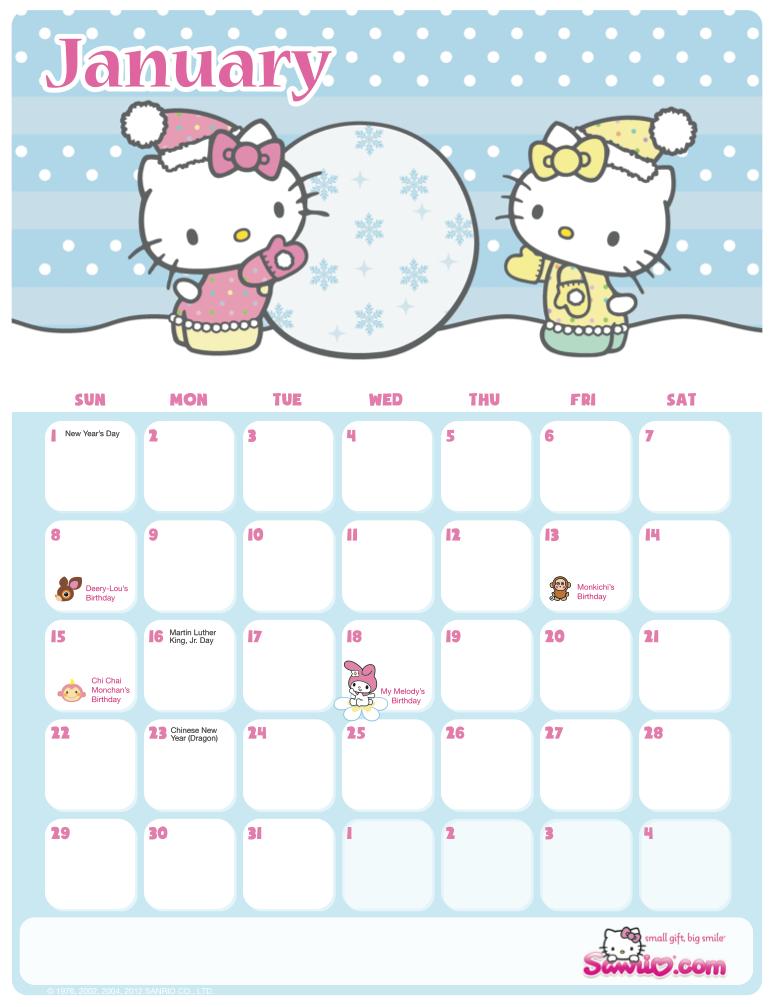 Month Hello Kitty Stuff
