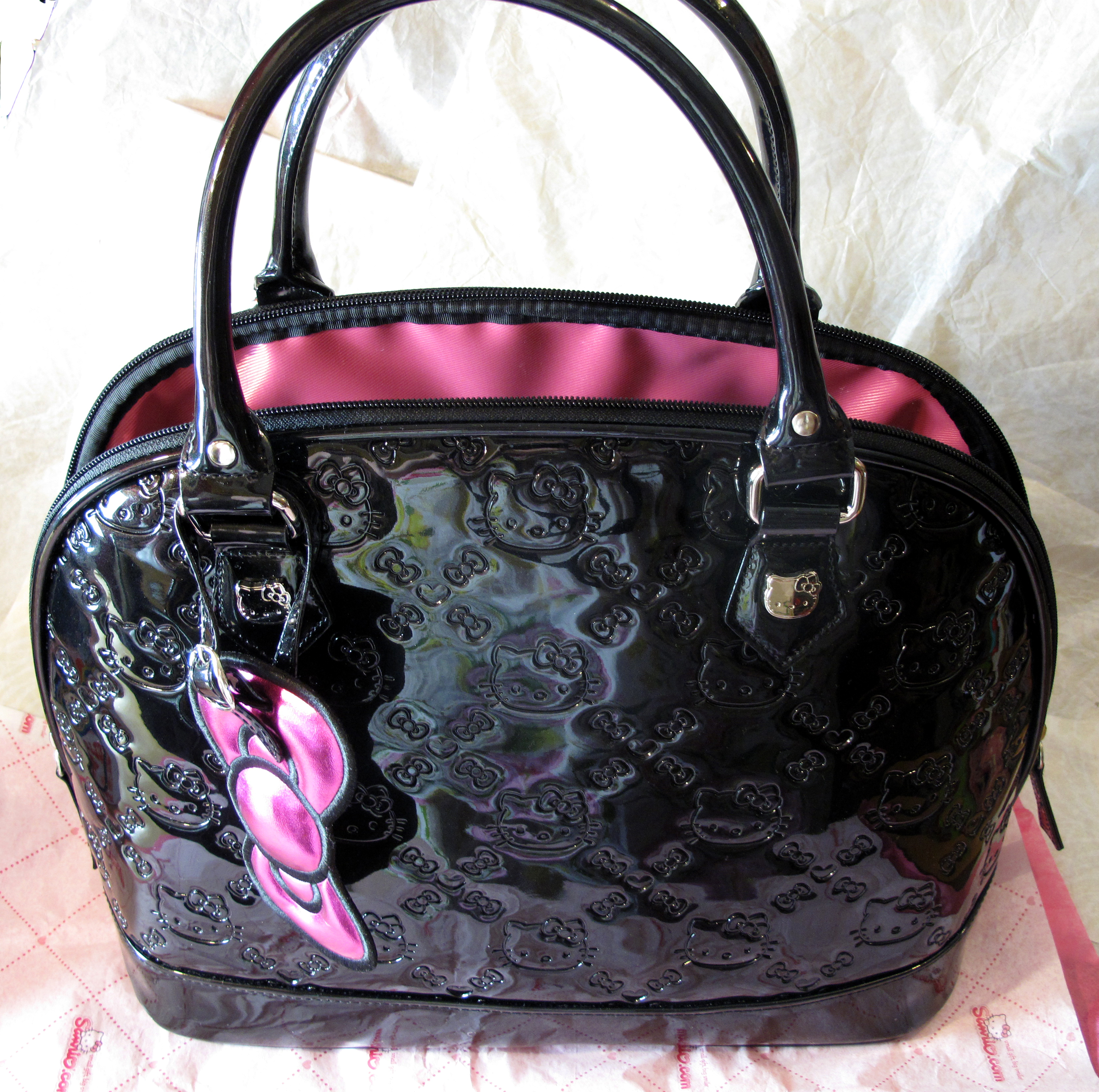 Purse : Hello Kitty Loungefly Black Embossed Purse hello kitty stuff
