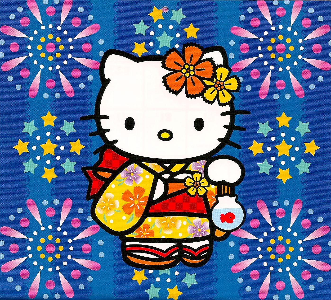 Hello Kitty August 2013 Calendar Hello kitty mini-cal august