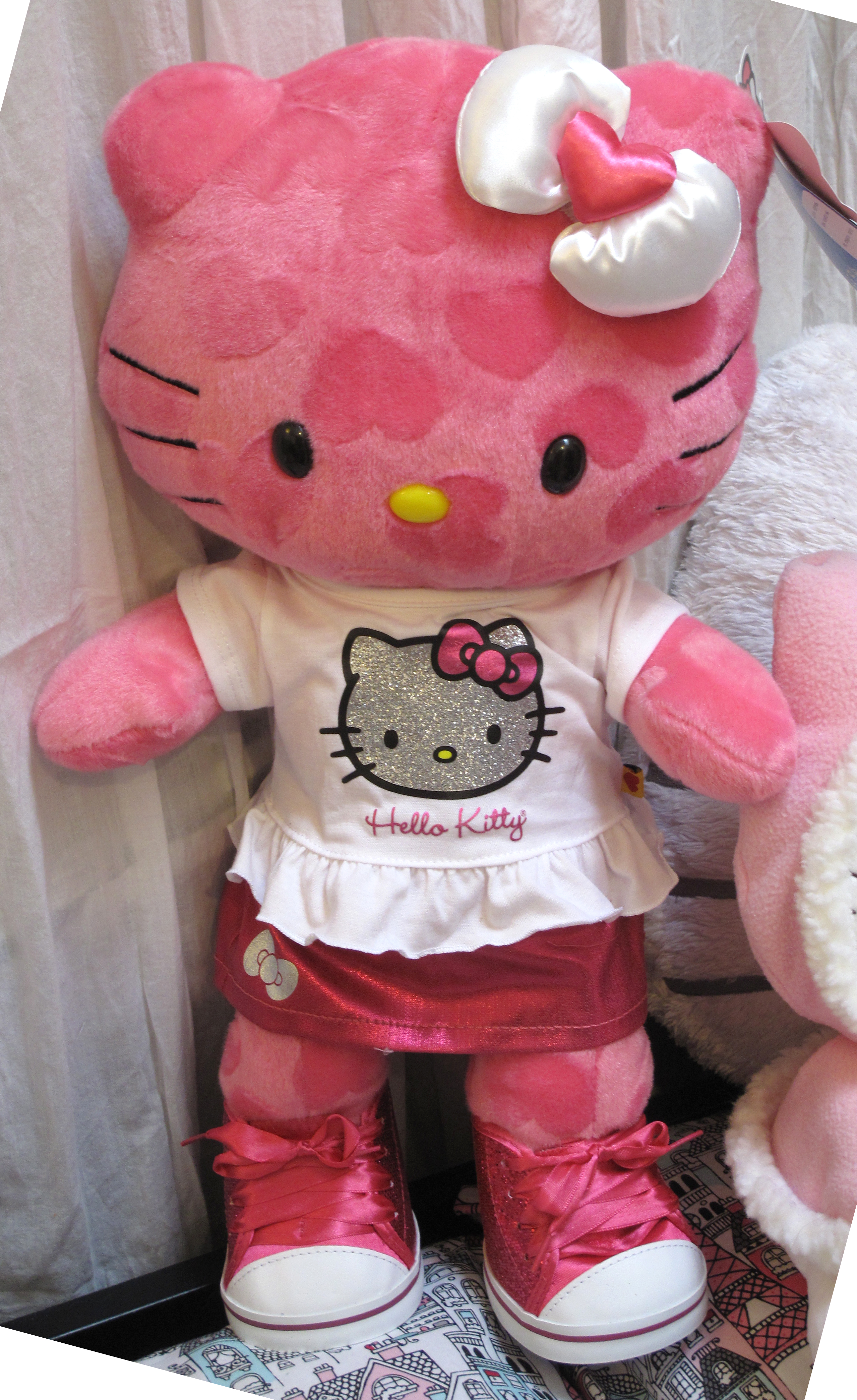 Here is the second outfit for my Pink Hearts Hello Kitty from Build-A-Bear.  She is sporting a Hello Kitty shirt and cute Hello Kitty skirt, ...