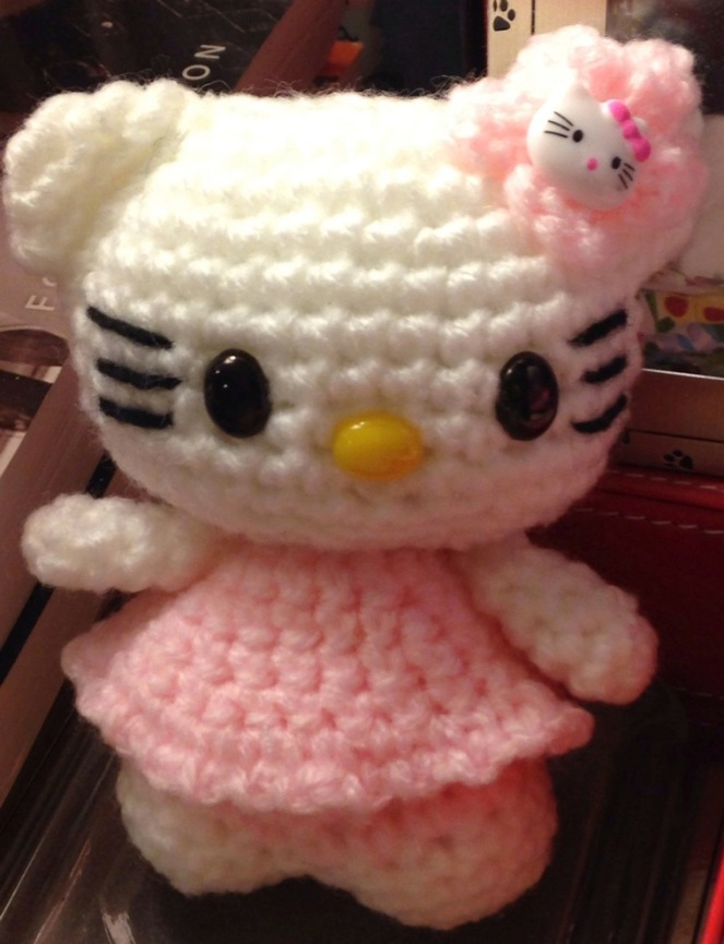 Crocheted Hello Kitty Plushie